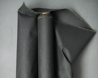 Oilskin - woven fabric - waxed cotton - khaki