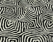 Web fabric-Cotton-Hand Printed-Black and White Indian Cotton