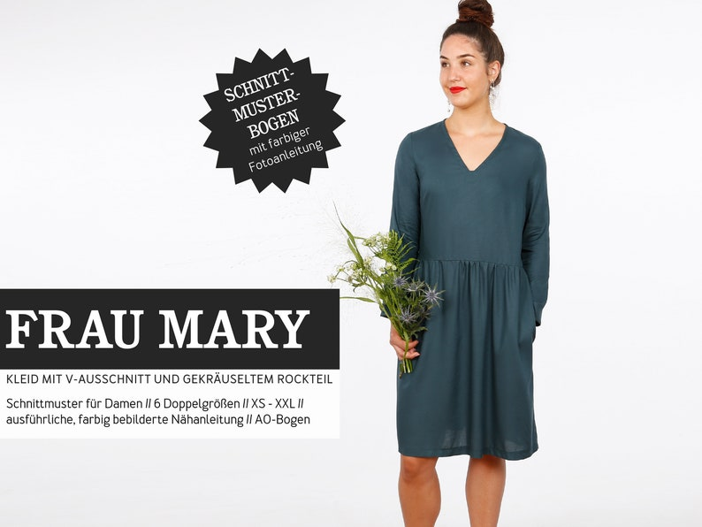 Sewing pattern  ladies  cut-out  woman Mary  dress with image 0