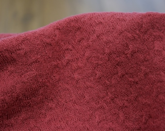 Fine wool knit - Merino - Pattern - Fuchsia