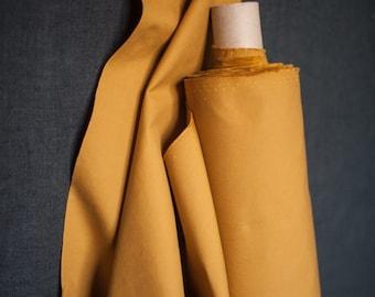 Dry Oilskin - woven fabric - waxed cotton - cumin
