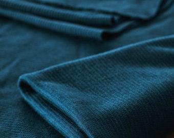 Organic Ottoman - Knit fabric - Cotton - Wool - Mind the Maker - Ocean