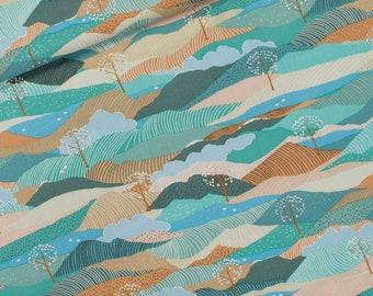 Gabardine Twill - weaving fabric - cotton - Landscape