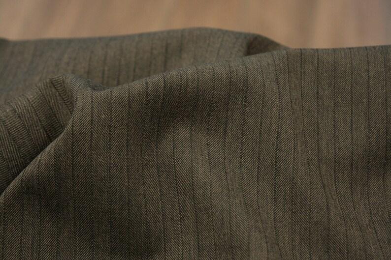 Wool fabric  Mixed fabric  Herringbone  Brown image 0
