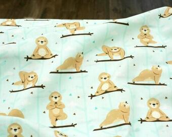 Woven fabric - Cotton - Sloth yoga