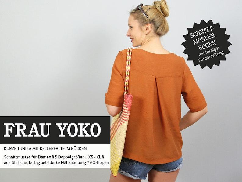 Pattern-women-cut ripe-ms Yoko-Short tunic image 0