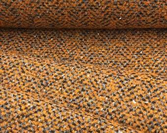 Wool fabric - Mixed fabric - Orange/Brown