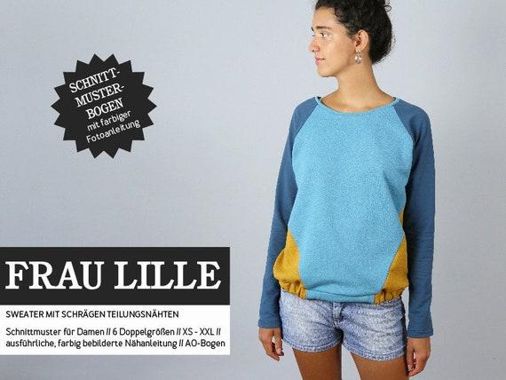 Fabelhaft Schnittmuster Damen Schnittreif Frau Lille Sweatshirt | Etsy @SS_95