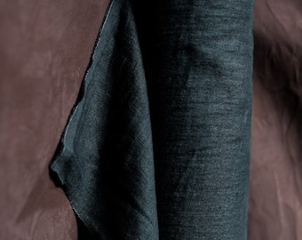 Weaving Fabric - Linen - Sweeps Scrim Black