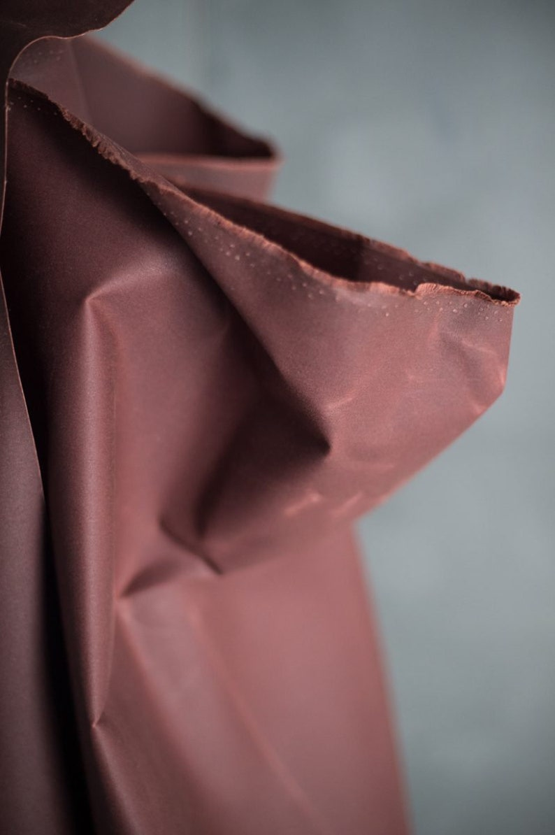 Oilskin  woven fabric  waxed cotton  Conker image 0