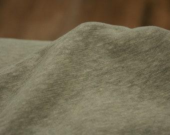 Knitting - Linen cotton - Knitfabric - Green