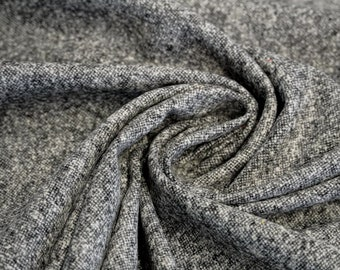 Wool fabric - Mixed fabric - Tweet - Grey/Black