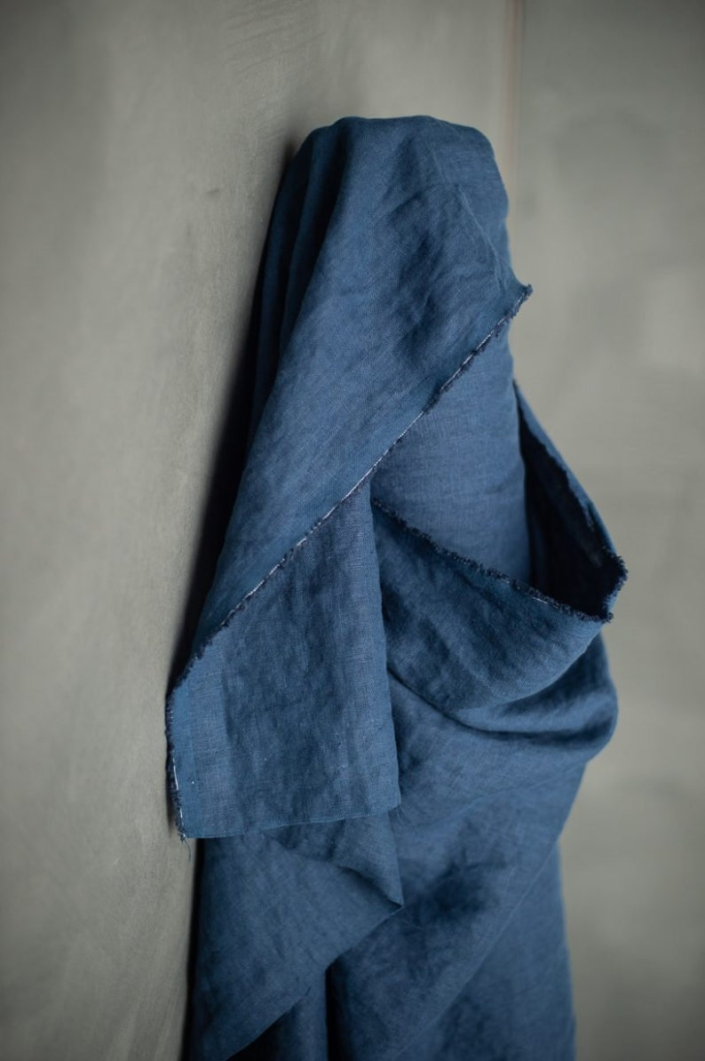 Fabric linen-goodnight dark blue