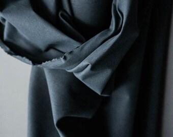 Flax Cotton Dry Oilskin - Woven Fabric - Indigo