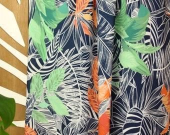 Viscose - Woven Fabric - Atelier Jupe - Dark Blue Tropical