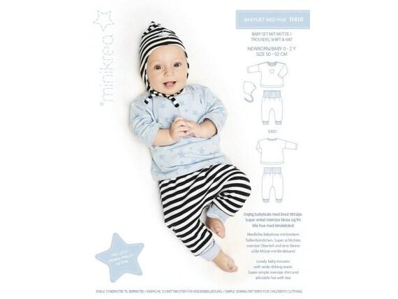 Schnittmuster Kinder Minikrea 11410 Babyset mit Mütze | Etsy