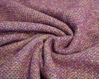 Wool Fabric - Mixed Fabric - Purple/Orange