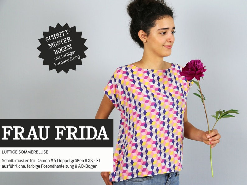 Sewing Pattern  Women  Cut-ready  Woman Frida  Blouse image 0