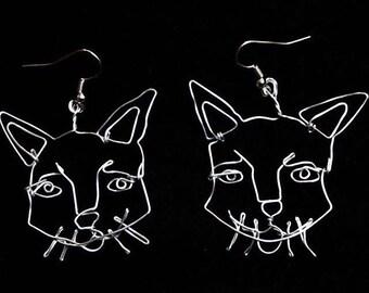 Feline Friend Face Earrings
