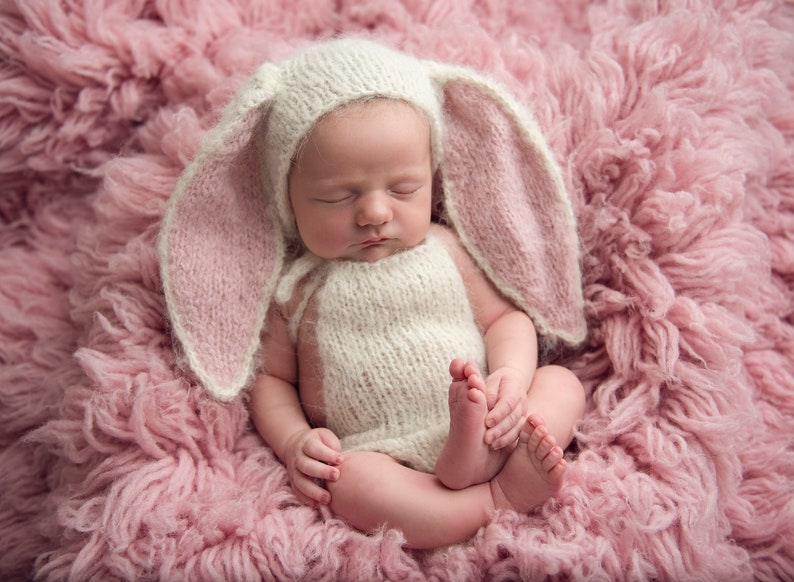 Photo Props Newborn Bunny Outfit Floppy Ears /& Romper Knitting Pattern Download PDF Easy
