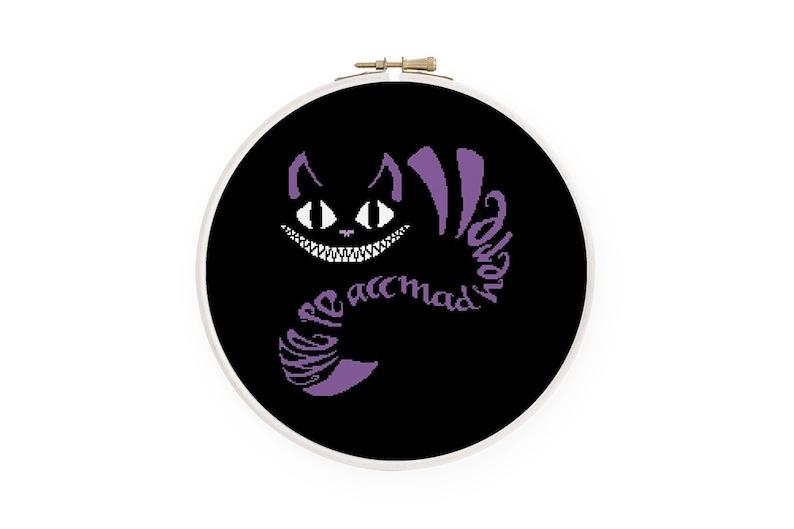 Cheshire cat cross stitch pattern Alice in Wonderland cross image 0