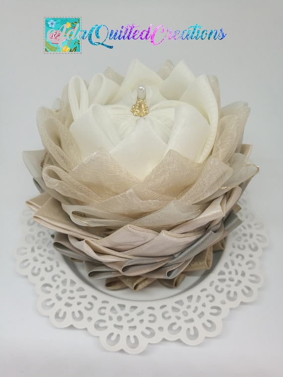 Tutorial Water Lily Original Pattern No Sew Quilted Lotus Etsy