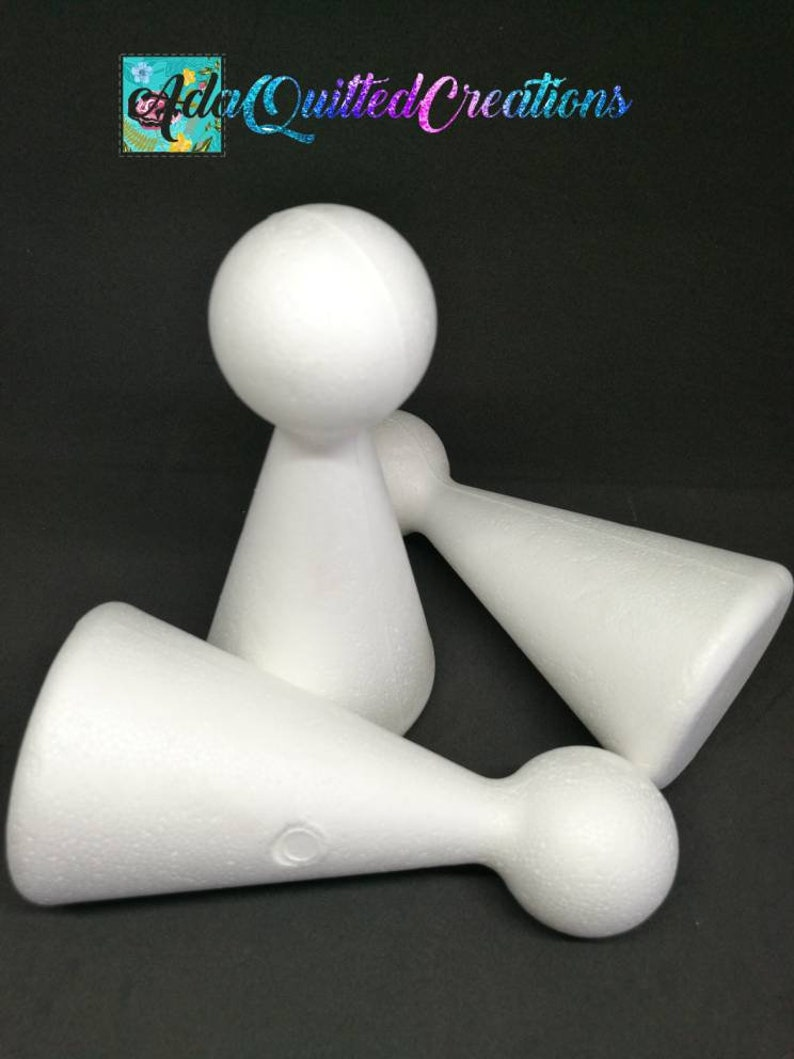 height 10cm 4 and 15 cm 6 diy crafts high quality EPS set of six styrofoam body shapes Polystyrene cone body shapes in two sizes