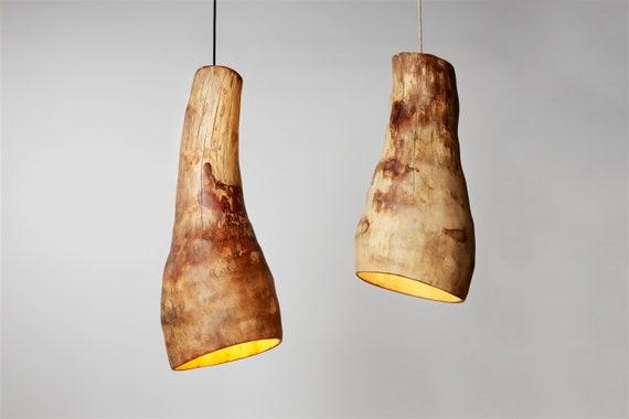 Wood Pendant Light, Modern Farmhouse Lighting