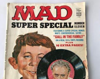 Mad Magazine, Super Special Number 11, Vintage Comic Book, Satire Humor
