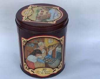 Vintage Nestle Tin, Toll House Morsels 50 Year Commemorative Metal Tin