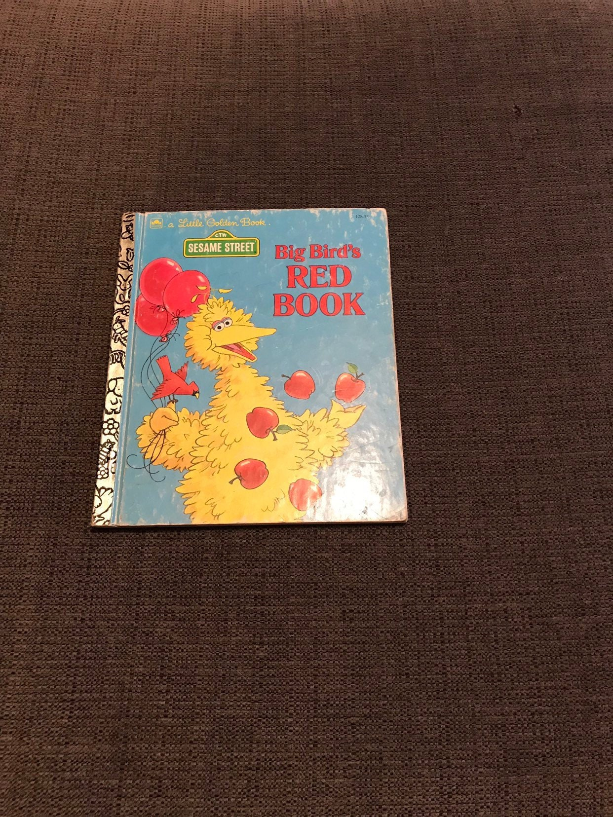 Vintage Little Golden Book Sesame Street Big Bird's Red Book