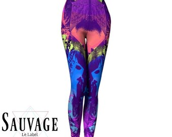 Colors Explosion Leggings for the wild ones • yoga class and sunday brunch approved • handmade in Montreal - XS to XL