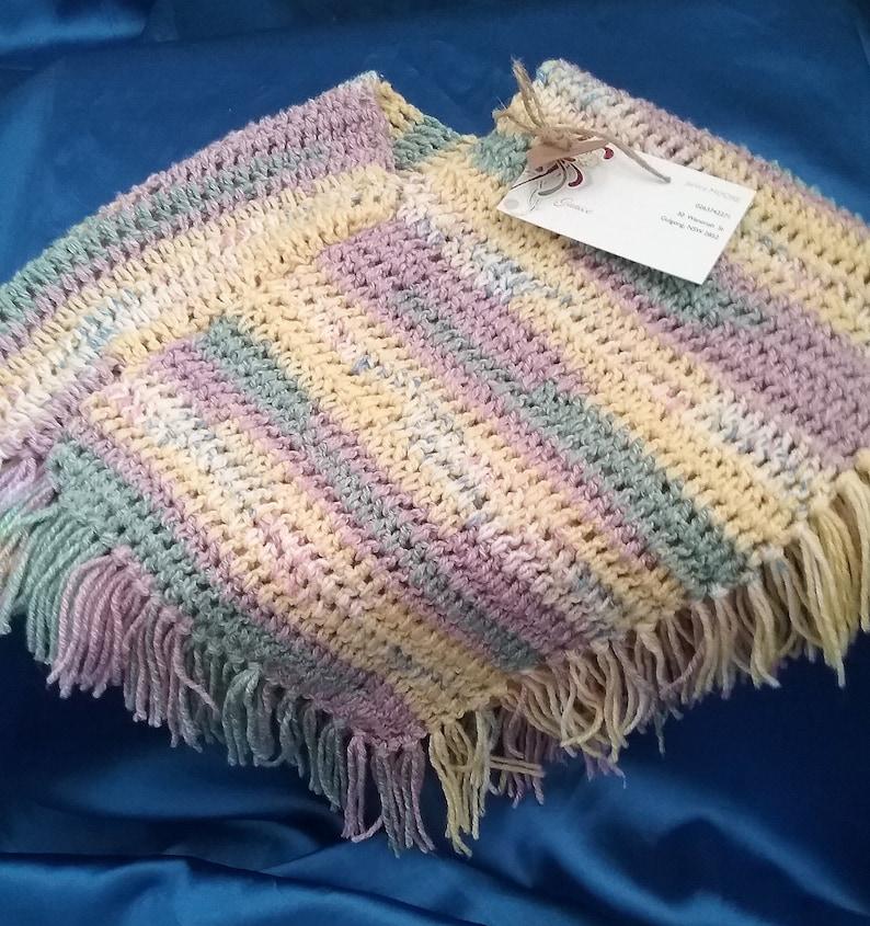 Baby Poncho, Crochet 1--Kids Size 3--