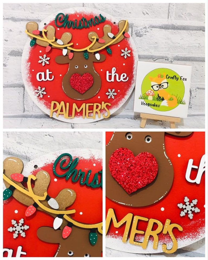 Santa Believe In Christmas Personalised Free Standing Hanging Plaque Wooden Sign