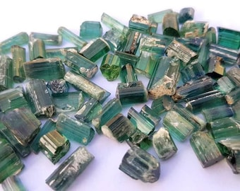 72 carats natural blue green tourmaline transparent crystals from Afghanistan mine.