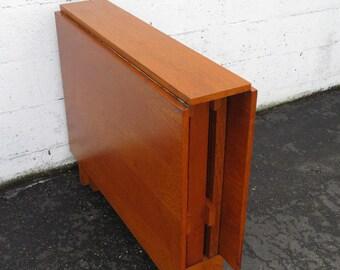 Folding table legs etsy mid century modern drop leaf gate legs folding hide away dining table 9201 watchthetrailerfo