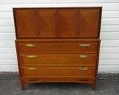 Mid Century Modern Chest of Drawers with Secretary Desk 9958 - SHIPPING NOT INCLUDED - Please ask us for shipping quote