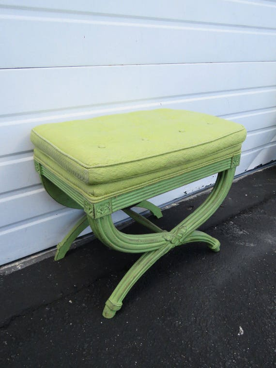 Stupendous Hollywood Regency Painted Upholstered Vanity Stool Ottoman 8585 Shipping Not Included Please Ask For A Shipping Quote Gmtry Best Dining Table And Chair Ideas Images Gmtryco
