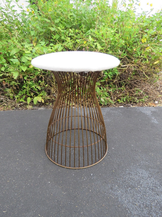 Swell Mid Century Modern Vanity Stool In The Style Of Warren Platner For Knoll 9103 Shipping Not Included Please Ask For A Shipping Quote Dailytribune Chair Design For Home Dailytribuneorg