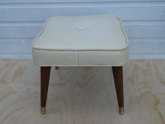 Terrific Mid Century Modern Ottoman Bench Footstool 9497 Creativecarmelina Interior Chair Design Creativecarmelinacom