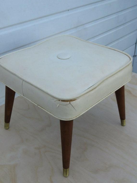 Marvelous Mid Century Modern Ottoman Bench Footstool 9497 Unemploymentrelief Wooden Chair Designs For Living Room Unemploymentrelieforg