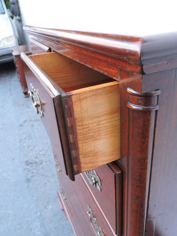 Solid Mahogany Chest Of Drawers By James McCreery And Co. New York 8095  SHIPPING NOT INCLUDED Please Ask For Shipping Quote