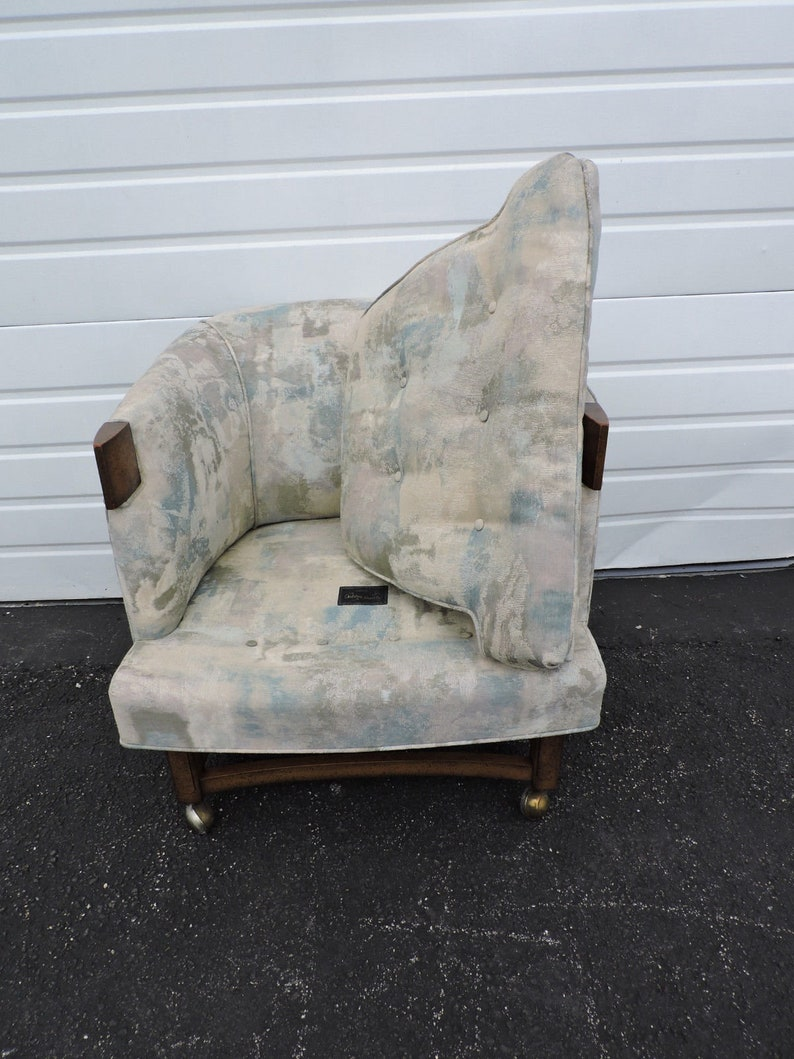Mid Century Modern Barrel Shape Living Room Side Chair 6658X SHIPPING NOT INCLUDED Please ask for shipping quote
