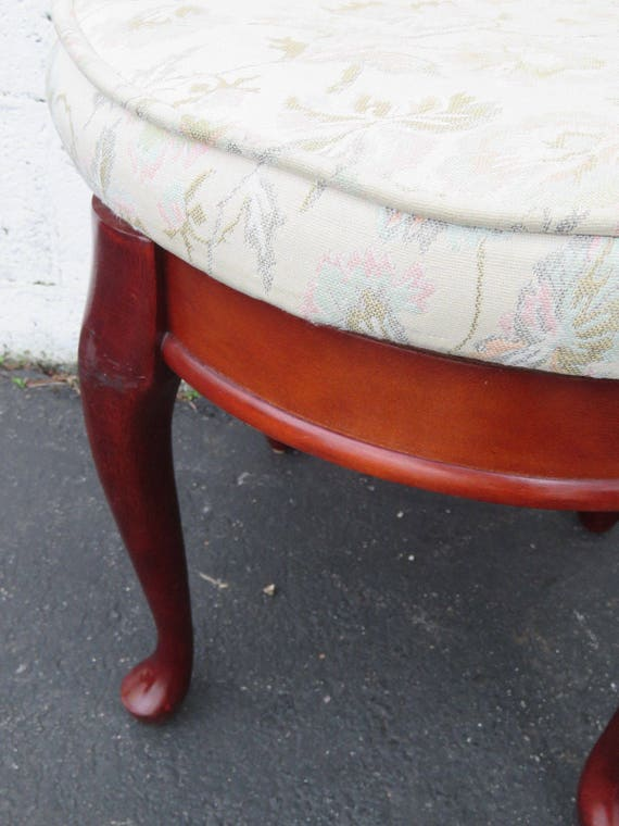 Fantastic Vintage Mahogany Upholstered Swivel Round Vanity Bench Stool 8812 Shipping Not Included Please Ask For A Shipping Quote Forskolin Free Trial Chair Design Images Forskolin Free Trialorg