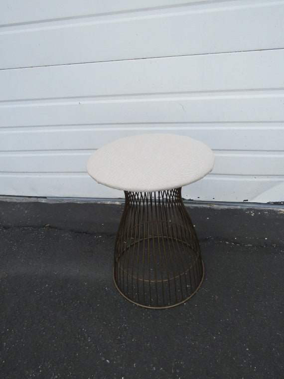 Marvelous Mid Century Modern Vanity Stool In The Style Of Warren Platner For Knoll 9103 Shipping Not Included Please Ask For A Shipping Quote Dailytribune Chair Design For Home Dailytribuneorg
