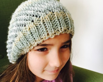 Winter knitted hat for kids and adults
