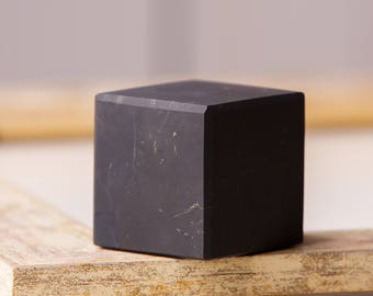 Shungite Cube UnPolished Matt Natural  Karelian magic stone EMF Protection Meditation cube Grid Stone For Supplies Healing Protection