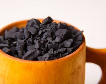 Raw shungite for water activation purification cleanser Shungite stones natural activator Nature's filter 450 gr (1 Lb) Raw chips