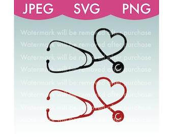 Heart Stethoscope Vector Image - SVG, PNG, JPEG, Nurse, Doctor, Healthcare, Hospital, Art, Stock Photo, File Download, Cricut, Silhouette