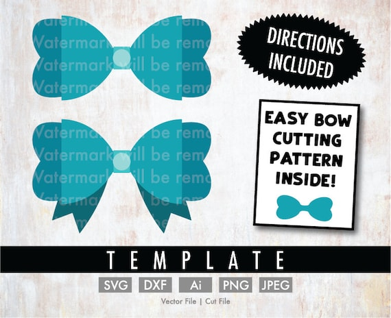 Diy Simple Scalloped Bow Template Cut File Vector Silhouette Cricut Svg Png Clip Art Download Bows Cheer Bow Baby Hair Faux Leather